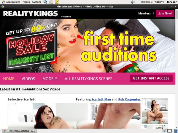 Free Firsttimeauditions Premium Account