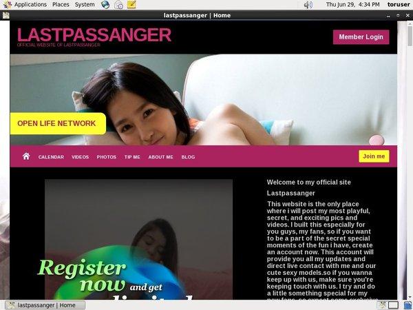 Lastpassanger