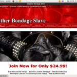 Leather Bondage Slave Special Offer