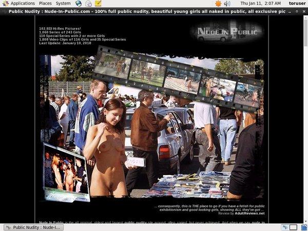 Nude In Public Ebony