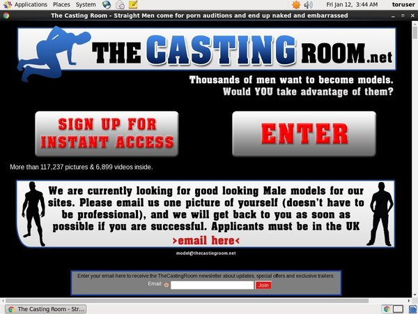 The Casting Room Sign Up