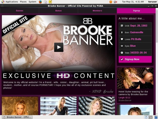 Brooke Banner Special Offer