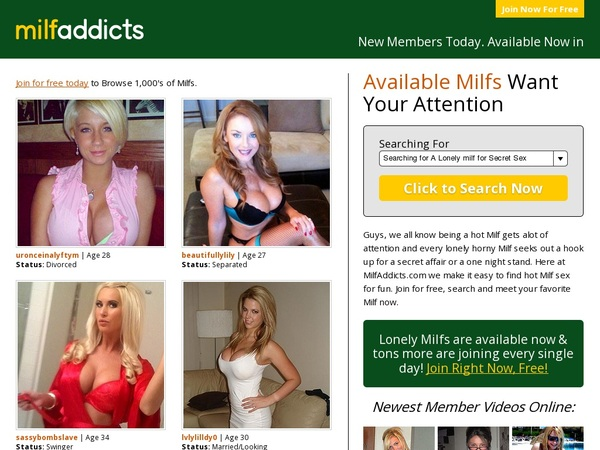Milfaddicts.com With Maestro Card