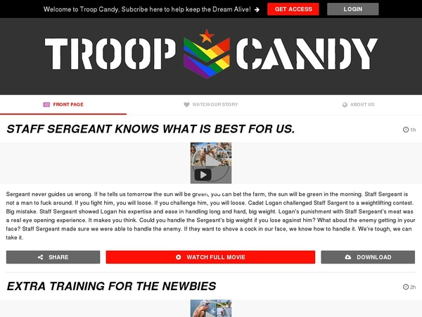 Troopcandy.com Login Password