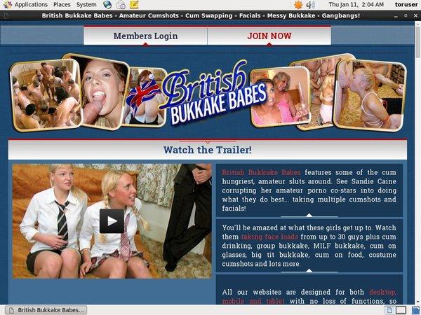 British Bukkake Babes Order Page