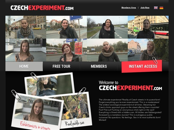 Czechexperiment.com Website Password