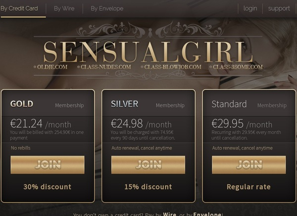Sensualgirl.com Account Info