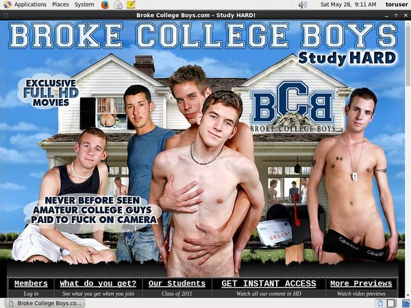Brokecollegeboys Join With SMS